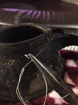 DIY bell boots repair